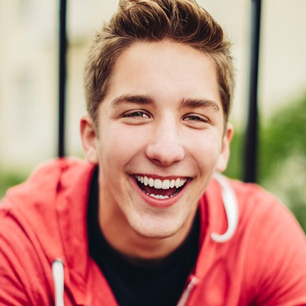 Teen with healthy smile